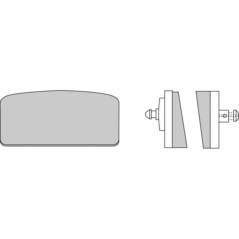 Plaquettes de frein FERODO fdb155p