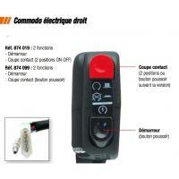 Commodo Électrique Droit coupe contact