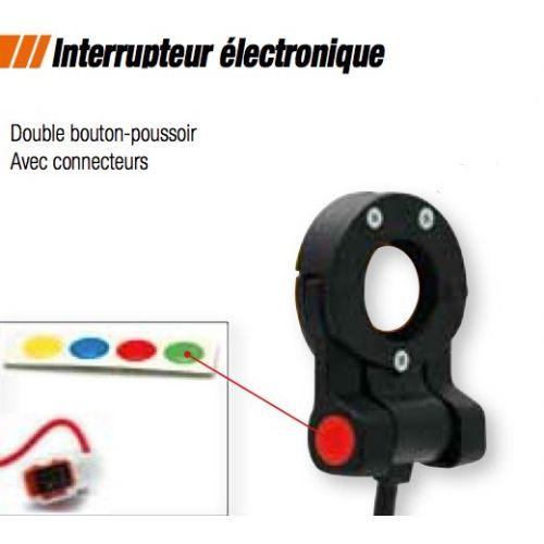 Interrupteur electronique double bouton poussoir dans votre boutique all bikes - Interrupteur bouton poussoir ...
