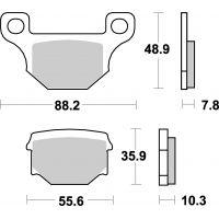 Plaquettes de frein moto SBS Ceramic 585 HF