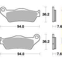 Plaquettes de frein moto SBS Ceramic 671 HF