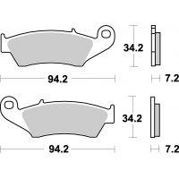 Plaquettes de frein moto SBS Ceramic 694 HF