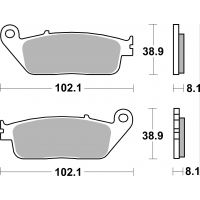 Plaquettes de frein moto SBS Sinter 627HS MF127