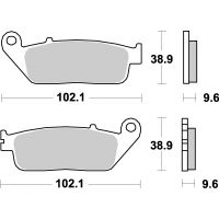 Plaquettes de frein moto SBS Sinter 700HS Tecnium MF200