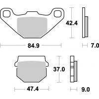 Plaquettes de frein moto SBS Off Road Sinter 544SI