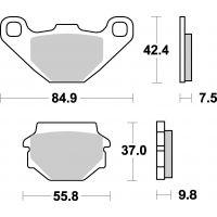 Plaquettes de frein moto SBS Off Road Sinter 546SI
