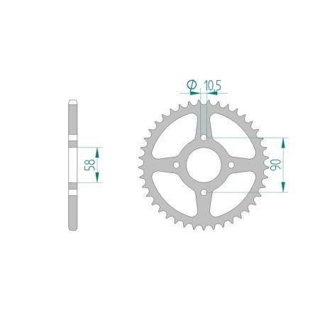AFAM COURONNE ACIER au pas de 520 pour HONDA/KTM AFA10221