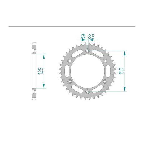 AFAM COURONNE ACIER au pas de 520 pour HUSABERG/KTM AFA71304