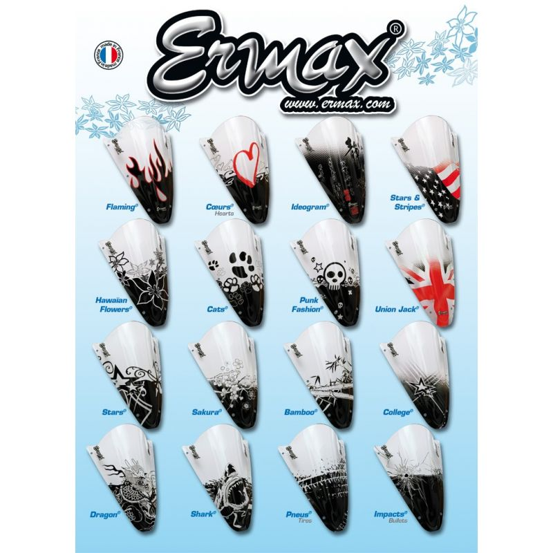 bulle ermax haute protection 20 cm pour 125 varadero 2001 2006 dans votre boutique all bikes. Black Bedroom Furniture Sets. Home Design Ideas