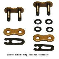 Attache rapide à clips pour chaine DC 520D type Standard couleur acier