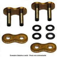 Attache rapide à rivet pour chaine DC 520MRX2-G PL type XS-ring Renforcé couleur or