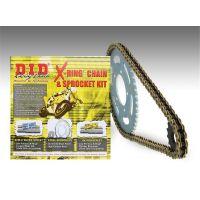 Kit chaine DID ACIER HONDA VT 125 C X,Y,1,2,3,4,5,6,7 SHADOW JC29 1999 à 2007