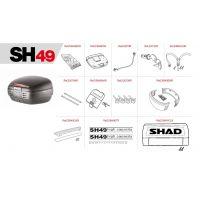 Pièces de rechange pour SHAD SH49.