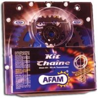 Kit chaine AFAM acier HONDA NX 125 TRANSCITY JD12 pas 428 1989 à 1999
