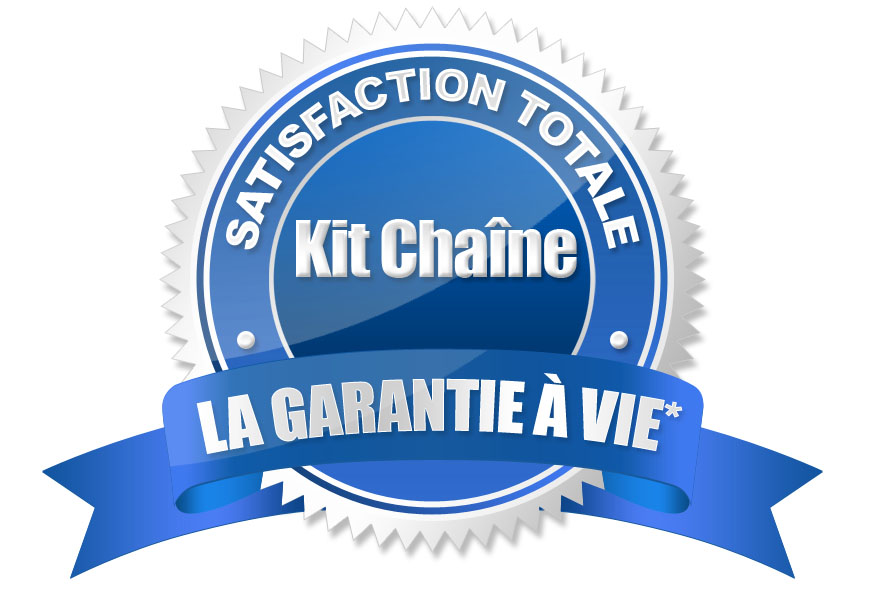 Logo garantie a vie des kit chaine